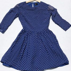 ASOS Royal Blue & Cream Polka Dot Skater Dress